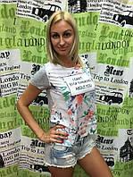 """Футболка женская из креп-шифона Турция """"I can't stop"""""""