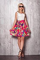 Стильное платье верх платья из гипюра