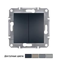 2-клавишный проходной выключатель Schneider Electric Asfora 10A без рамки