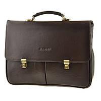 Кожаный мужской портфель BLAMONT Bn052 коричневый