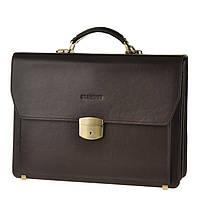 Кожаный мужской портфель BLAMONT Bn051 коричневый