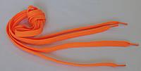 Шнурки в  кроссовки  плоские  100см  оранжевые