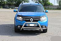 Кенгурятник, передняя защита Renault Sandero Stepway (2013+)