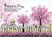 Наклейка виниловая Изгородь (счастливое дерево) 3D декор