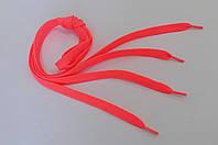 Шнурки в  кроссовки  плоские  100см  ярко-розовые