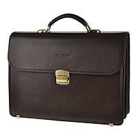 Кожаный мужской портфель BLAMONT Bn048 коричневый