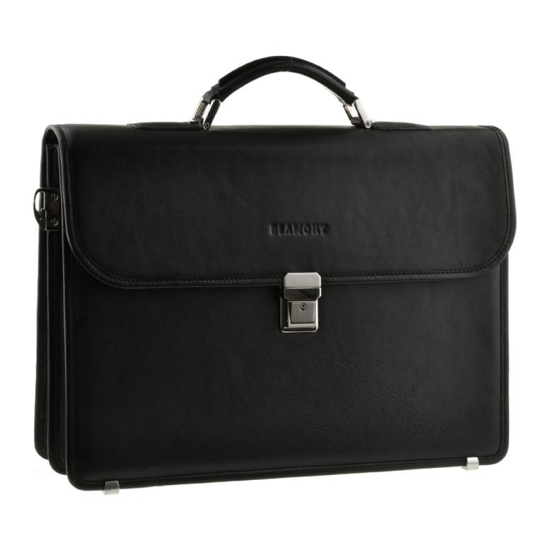 Кожаный мужской портфель BLAMONT Bn048 черный
