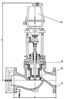 Клапан регулирующий стальной клеточный с ЭИМ Армагус.