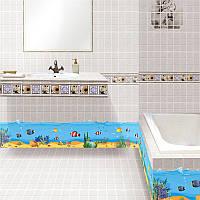Наклейка виниловая Изгородь (подводный мир) 3D декор