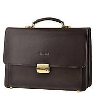 Кожаный мужской портфель BLAMONT Bn061 коричневый
