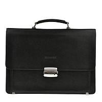 Кожаный мужской портфель BLAMONT Bn061 черный