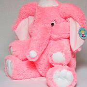 Мягкая игрушка розовый слон, купите слона от производителя 90 см