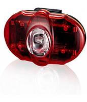 Фонарь светодиодный задний +батарейки INFINI I-406 Vista 3 SMD LED, 2 режима, крепл.
