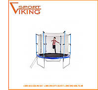 Батут детский Hop-Sport 244 см с внутренней защитной сеткой и лестницей