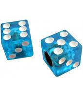 Колпачок для камеры TW V-11A Игральные кости из пластика, голубого цвета (в комплекте 4 шт) Автомобильного ста