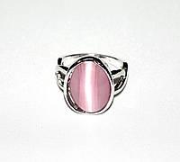 Недорогое кольцо с сиреневым кошачьим глазом