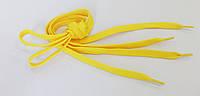 Шнурки в  кроссовки  плоские  100см  жёлтые