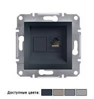 Розетка Schneider Electric Asfora компьютерная LAN 1хRJ45, IP20, без рамки