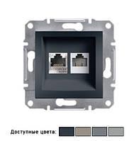 Розетка Schneider Electric Asfora компьютерная LAN + телефонная (1хRJ45 + 1хRJ11 ), IP20, без рамки