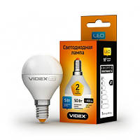 LED лампа VIDEX G45e(шар) 5W E14 3000K 220V