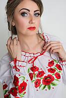 Вышиванка с маками женская ЖТ17 , фото 1
