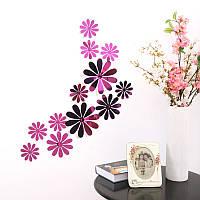 Цветы 3D декор зеркальные  (фиолетовые)