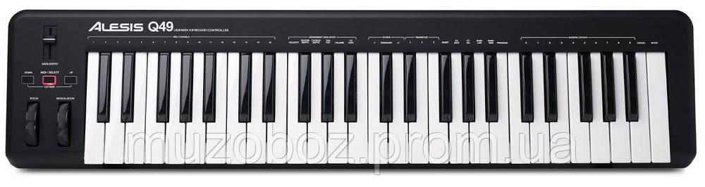 Alesis Q49 USB/MIDI клавиатура, 49 динамических клавиш
