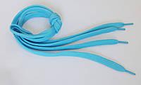 Шнурки в  кроссовки  плоские  100см  голубой
