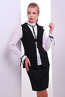 Молодежный женский жилет черного цвета