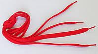 Шнурки в  кроссовки  плоские  100см  красные