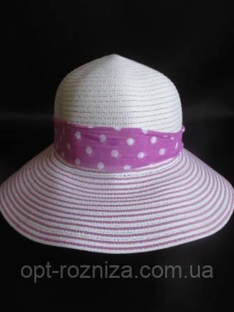 Шляпка на лето в принт полоску
