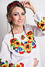 Красивая женская вишиванка с подсолнухами соняшниками