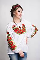 Красивая женская вишиванка с маками , фото 1