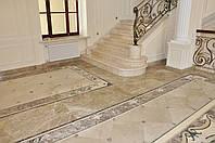 Изготовление каминов, лестниц. полов из мрамора