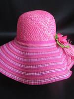 Яркая шляпа женская с широкими полями, фото 1