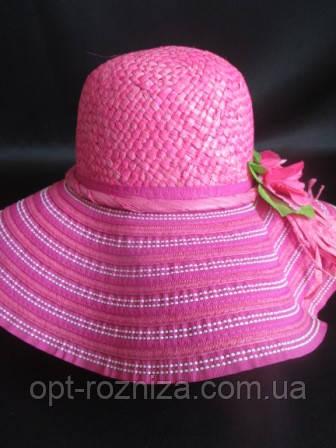 Яркая шляпа женская с широкими полями