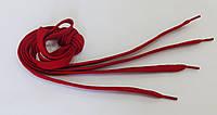 Шнурки в  кроссовки  плоские  100см   темно-красный