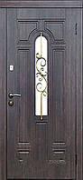 Двери входные со стеклом Лира серия Премиум Каскад