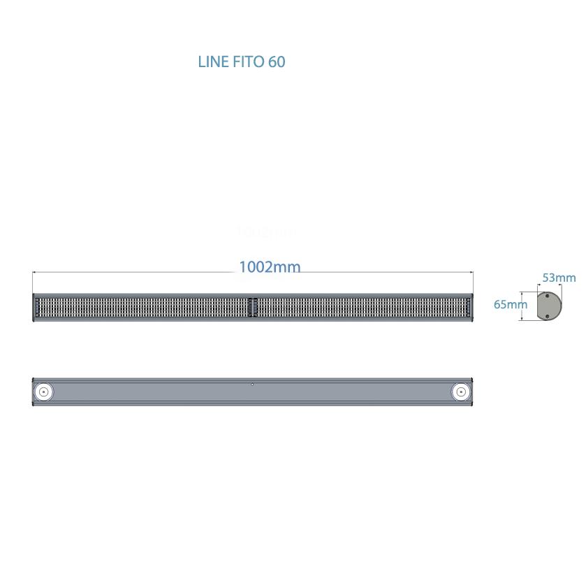 Светодиодный фитосветильник Fito Line 65 (65 Вт, 1-2 кв.м)
