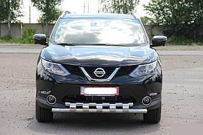 Защита переднего бампера Nissan Qashqai (2014+)