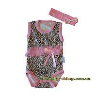 Боди-майка Леопард для девочек розовый
