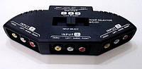 Переключатель  3 гнезда RCA - 3 входа х 3 гнезда RCA в блистерной упаковке.