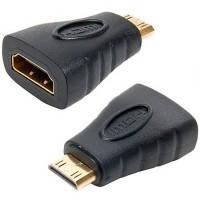 Адаптер - переходник HDMI F гнездо-HDMI Mini M штекер