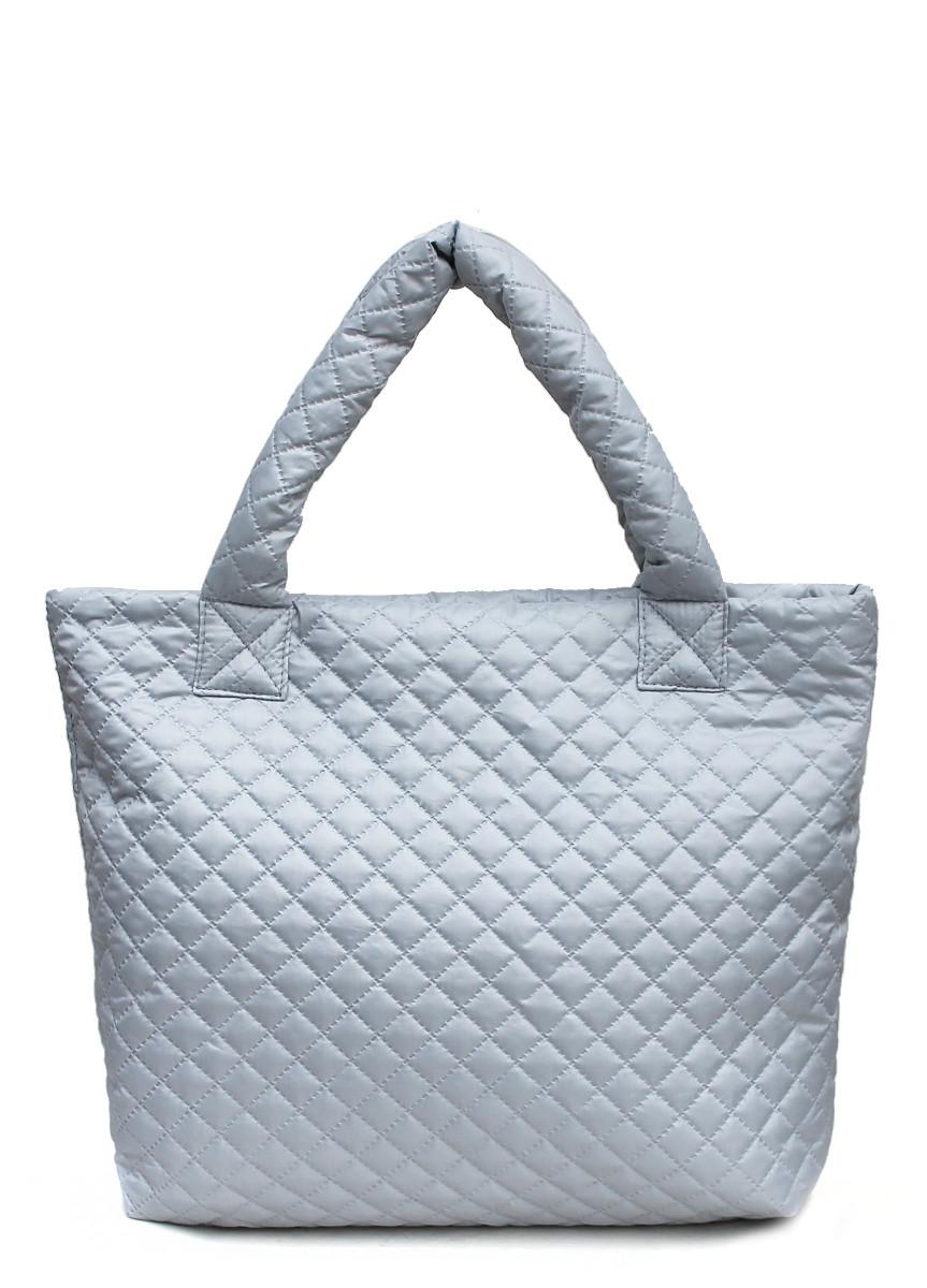 Стеганая сумка POOLPARTY серая