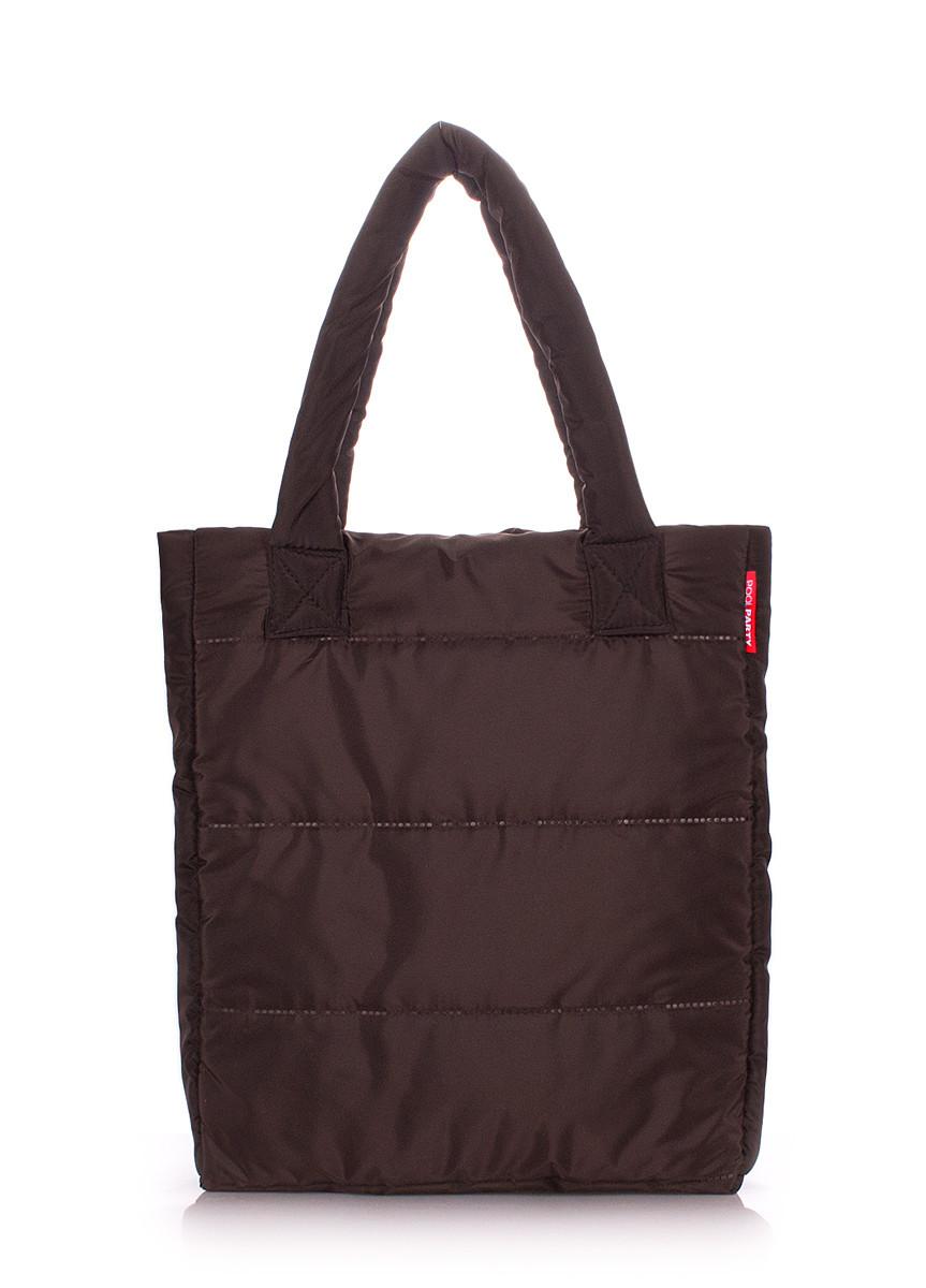 Дутая сумка POOLPARTY brown