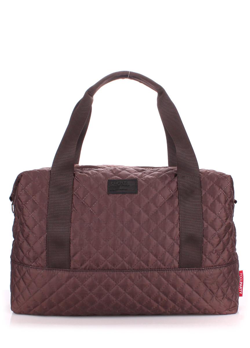 Стеганая сумка POOLPARTY Swag коричневая