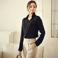 Блузка рубашка женская Черная, фото 1