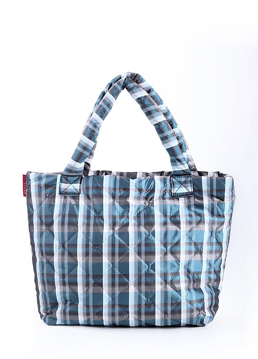 Дутая сумка из ткани POOLPARTY в клетку