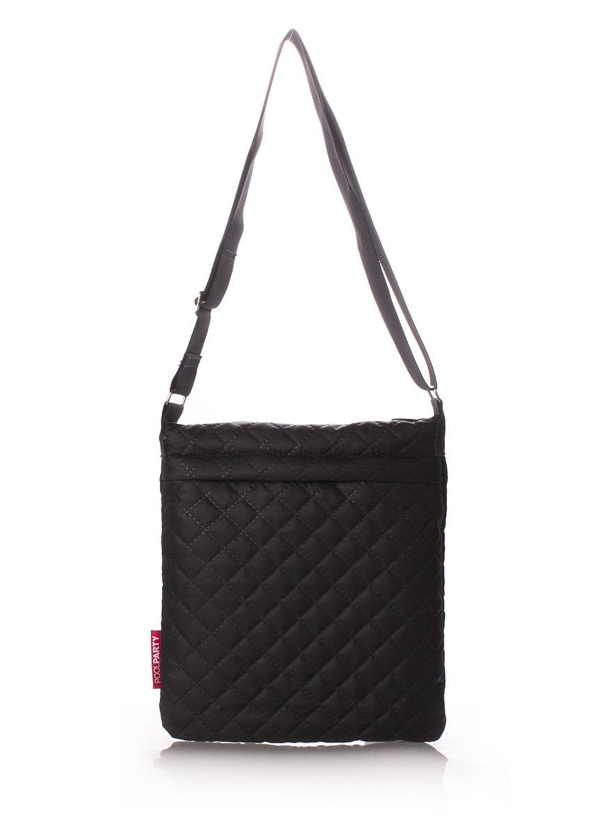 Сумка-планшет из ткани черная POOLPARTY