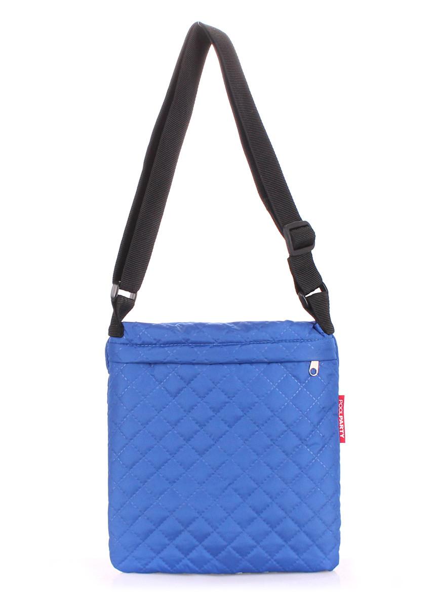 Сумка-планшет из ткани синяя POOLPARTY